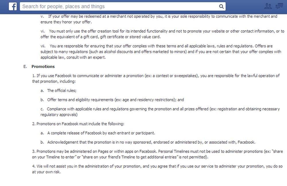 actualizacion facebook promos